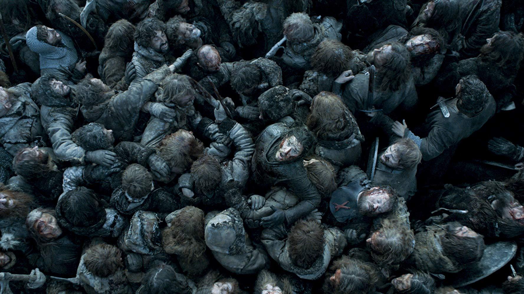 Cena da Batalha dos Bastardos no episódio 9 da temporada 6 de 'Game of Thrones'