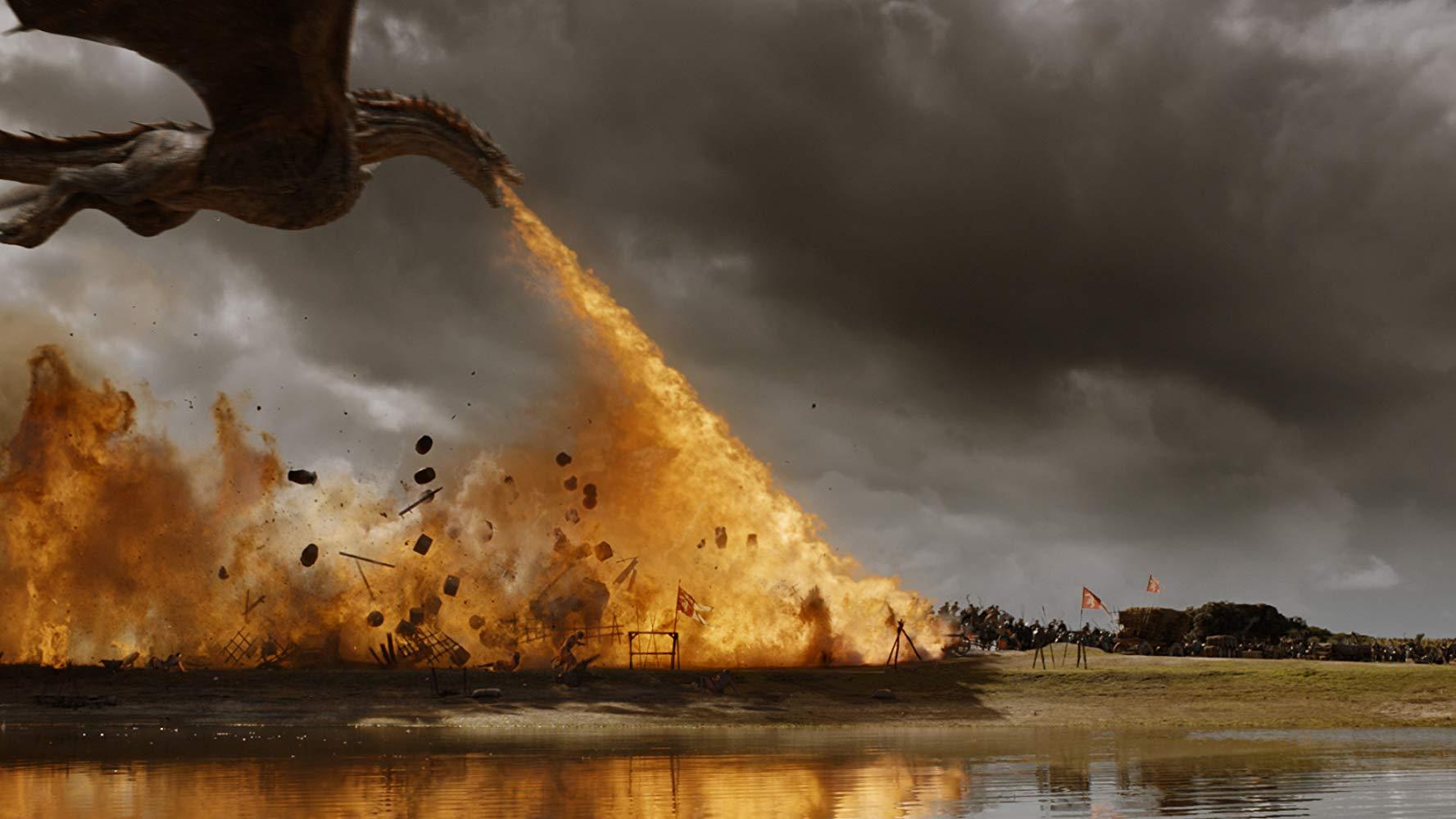 Drogon em cena do episódio 4 da temporada 7 de 'Game of Thrones'