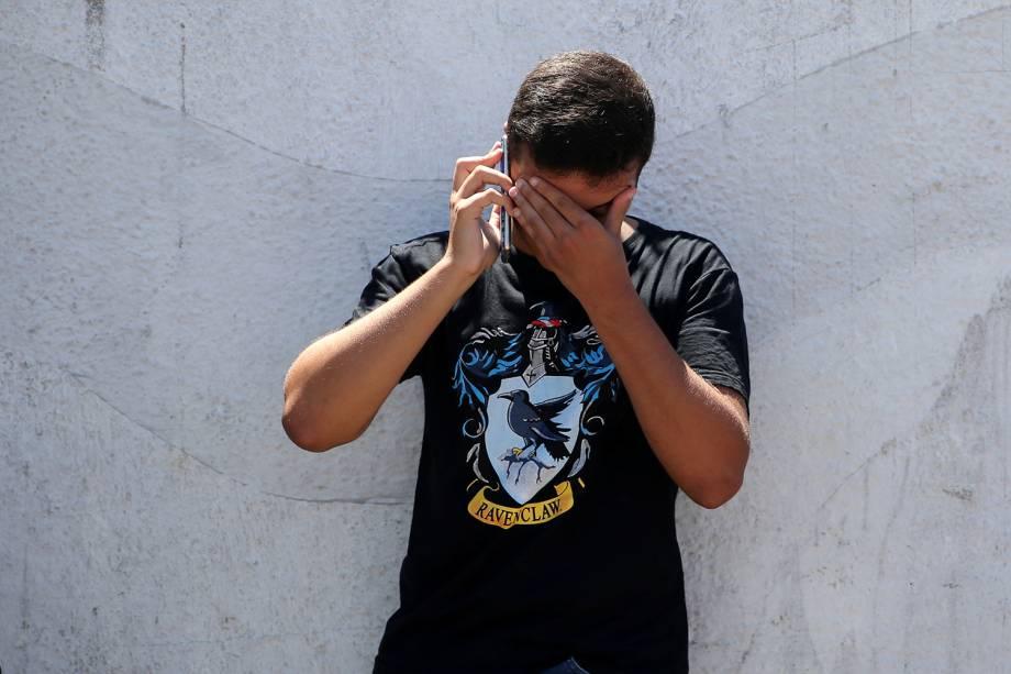 Movimentação nos arredores da Escola Estadual Raul Brasil, em Suzano (SP), após dois jovens entrarem no local e atirarem contra estudantes - 13/03/2019