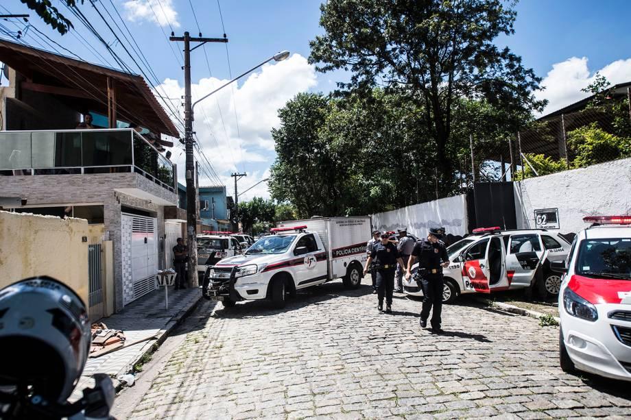 Polícia científica investiga Escola Estadual Raul Brasil em Suzano, cidade na Grande São Paulo após dois adolescentes abrirem fogo contra estudantes - 13/03/2019