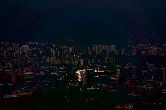 Apagão em Caracas na Venezuela