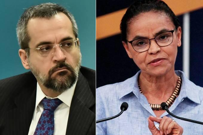 Abraham Weintraub e Marina Silva