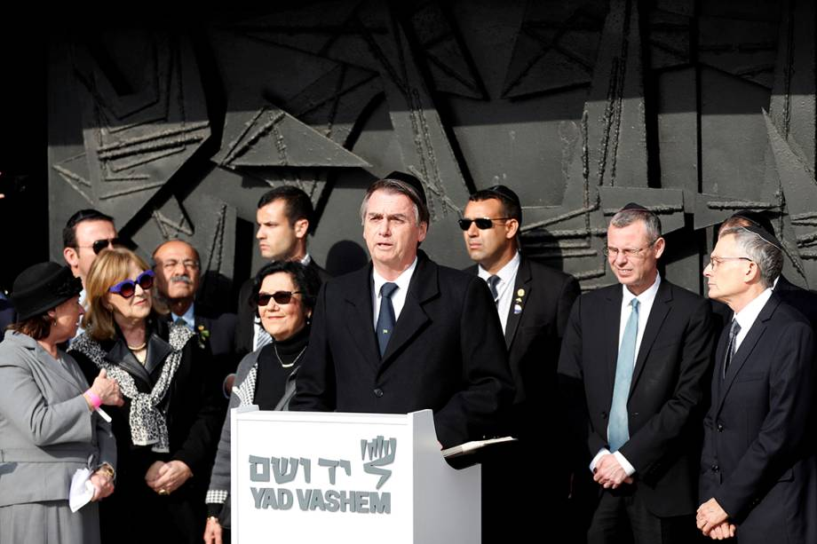 Bolsonaro visita o Museu do Holocausto, em Jerusalem - 02/04/2019