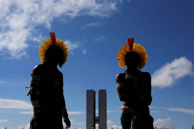 Protesto de índios em Brasília (DF)