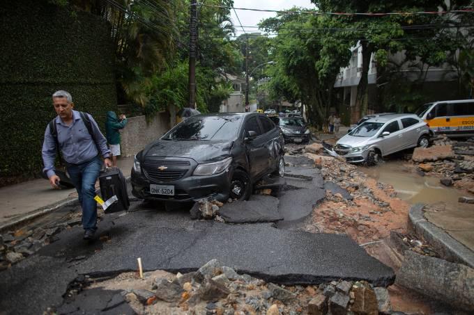 Chuva provoca alagamentos no Rio de Janeiro
