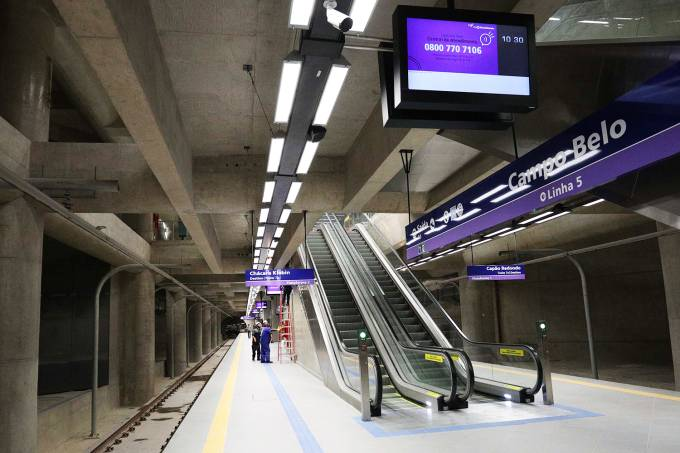 Estação Campo Belo – Linha 5-Lilás