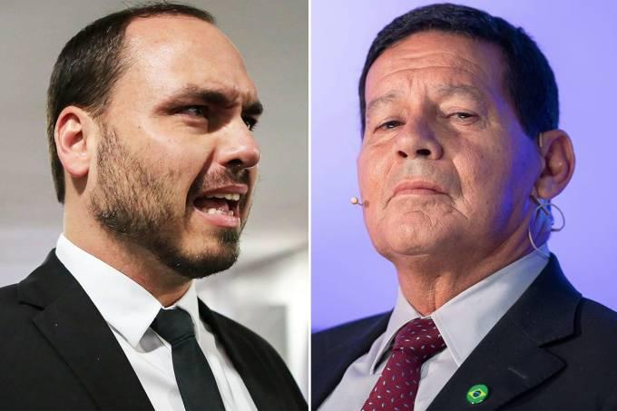 Carlos Bolsonaro e Hamilton Mourão