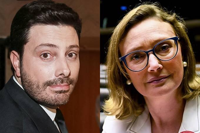 Danilo Gentili e Maria do Rosário