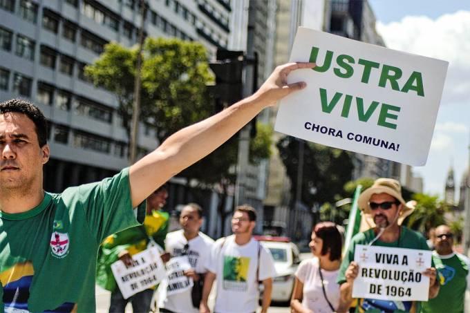Protesto em apoio a ditadura no Rio