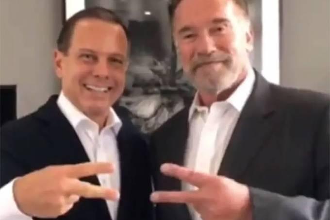 João Doria e Arnold Schwarzenegger