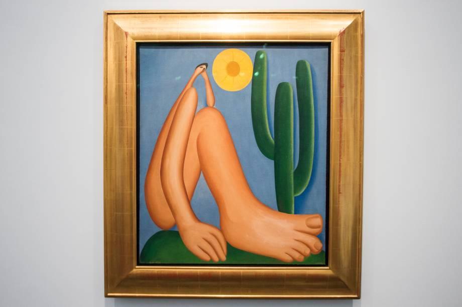 A obra 'Abaporu' (1928), faz parte da exposição 'Tarsila Popular', que traz obras da artista Tarsila do Amaral no Masp (Museu de Arte de São Paulo) - 03/04/2019