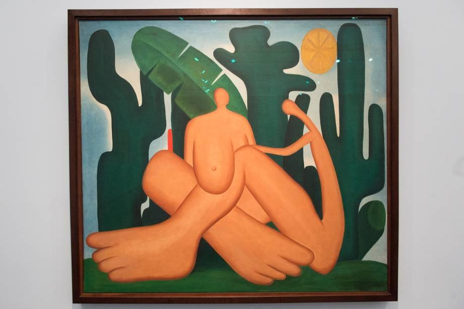 A obra 'Antropofagia' (1929), faz parte da exposição 'Tarsila Popular', que traz obras da artista Tarsila do Amaral no Masp (Museu de Arte de São Paulo) - 03/04/2019