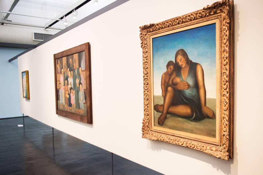 A exposição 'Tarsila Popular', traz obras da artista Tarsila do Amaral no Masp (Museu de Arte de São Paulo). Em destaque, a obra 'Maternidade I' (1938) - 03/04/2019