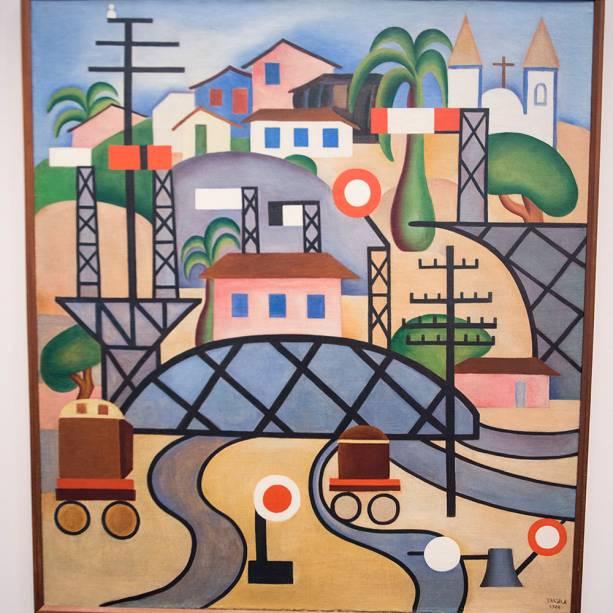 A obra 'E.F.C.B (1924), faz parte da exposição 'Tarsila Popular', que traz obras da artista Tarsila do Amaral no Masp (Museu de Arte de São Paulo) - 03/04/2019