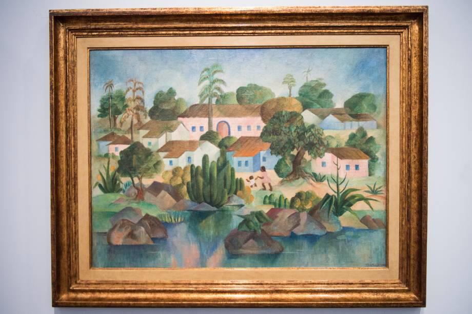 A obra 'Fazenda' (1950) ,faz parte da exposição 'Tarsila Popular', que traz obras da artista Tarsila do Amaral no Masp (Museu de Arte de São Paulo) - 03/04/2019