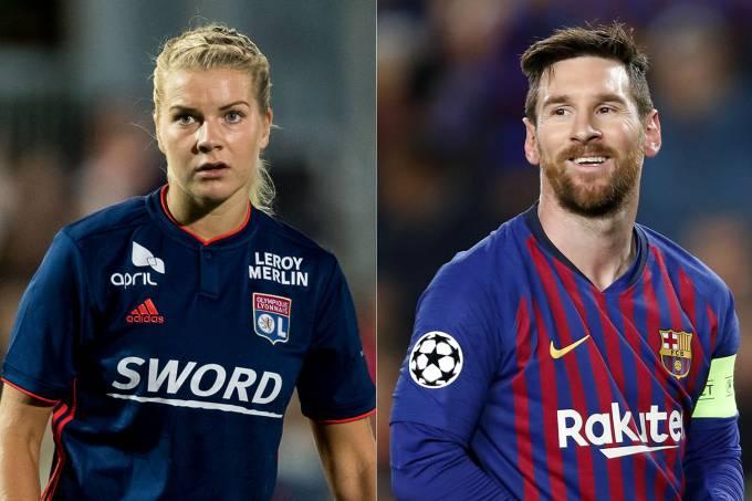 Ada Hegerberg e Lionel Messi