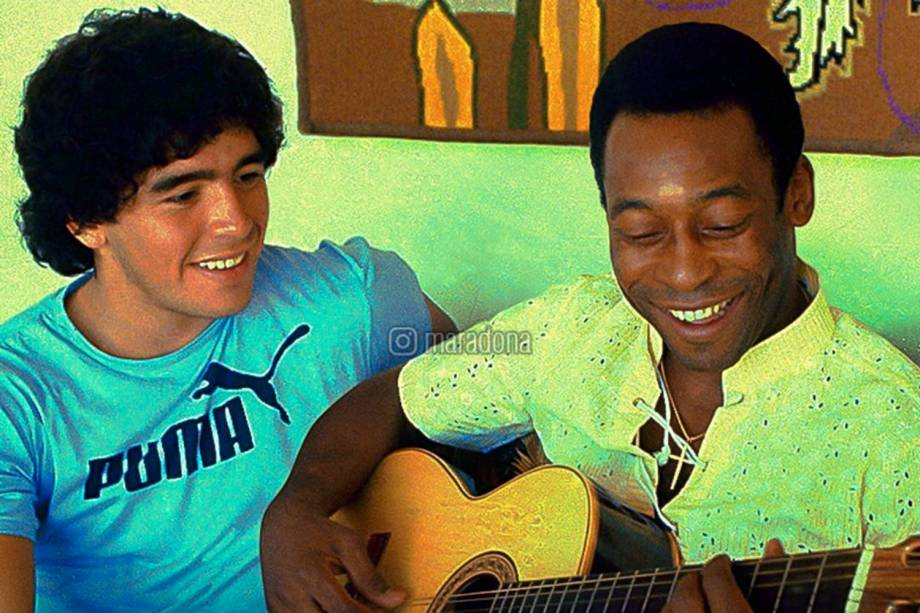 O primeiro encontro entre Pelé e Diego Maradona, em 1979