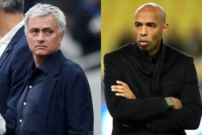 José Mourinho e Thierry Henry