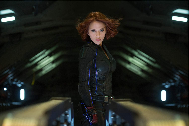 Scarlett Johansson como Viúva Negra em 'Vingadores: Era de Ultron' (2015)
