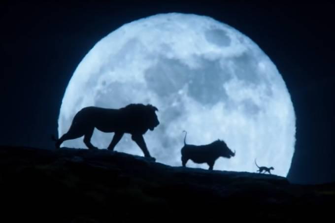 Cena de 'O Rei Leão', de 2019, recria imagem do longa animado de 1994