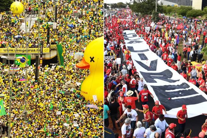 Manifestações de direita e esquerda no Brasil