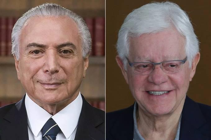 Michel Temer e Moreira Franco