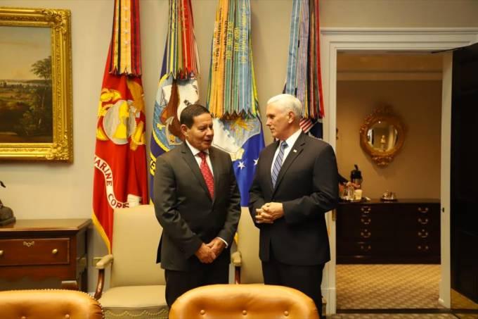 Encontro dos vice-presidentes Hamilton Mourão e Mike Pence