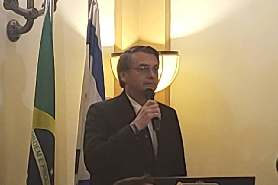 Jair Bolsonaro participa de encontro com residentes em Jerusalém, Israel - 02/04/2019