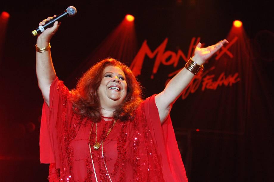 A cantora Beth Carvalho se apresenta na cidade de Montreux, na Suíça - 14/07/2007