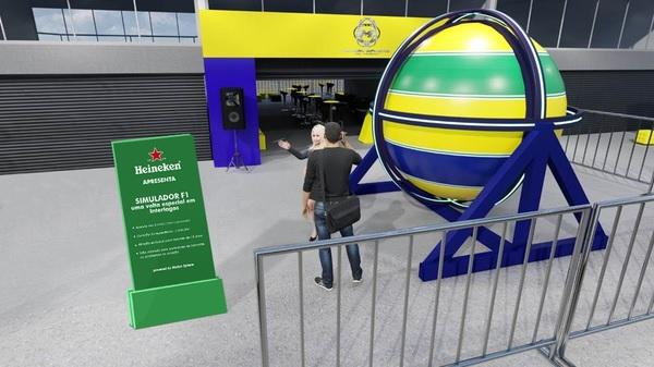 Simulador terá as cores do capacete de Senna