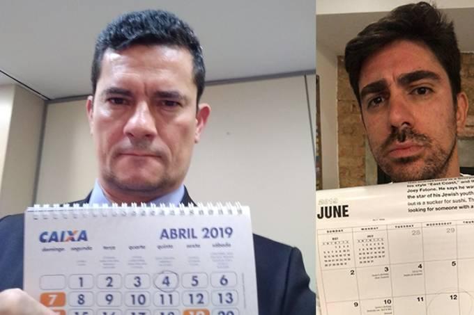 Sergio Moro e Marcelo Adnet