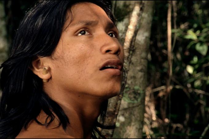 Ihjãc, jovem indígena da aldeia Krahô