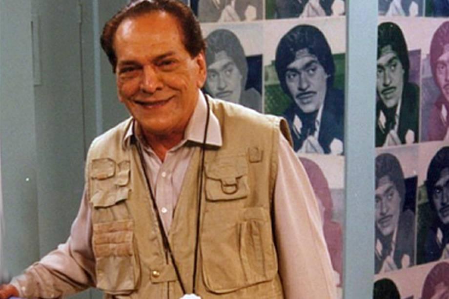 Lúcio Mauro no programa 'Zorra Total' em 1999
