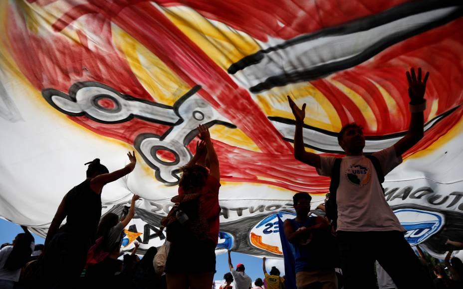Protesto contra contingenciamento de verbas pelo MEC em Brasília - 15/05/2019