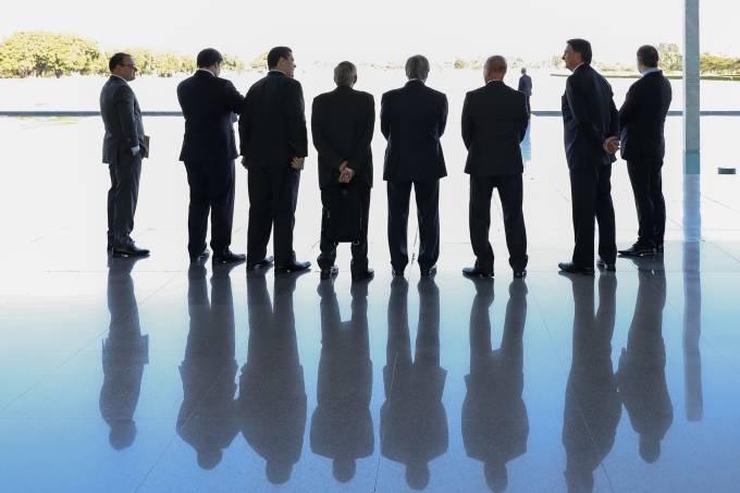 Jair Bolsonaro se encontra com chefes dos Três Poderes
