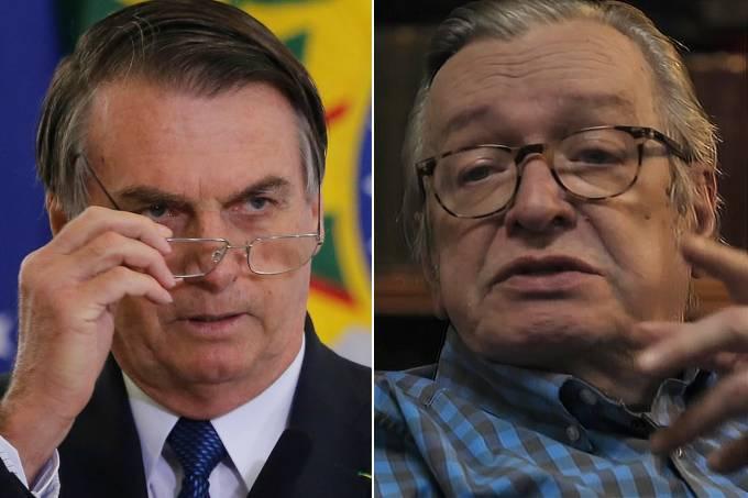 Jair Bolsonaro e Olavo de Carvalho