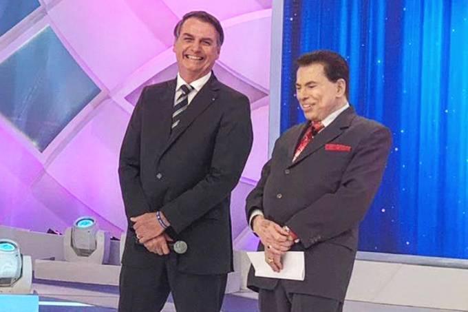 Jair Bolsonaro e Silvio Santos