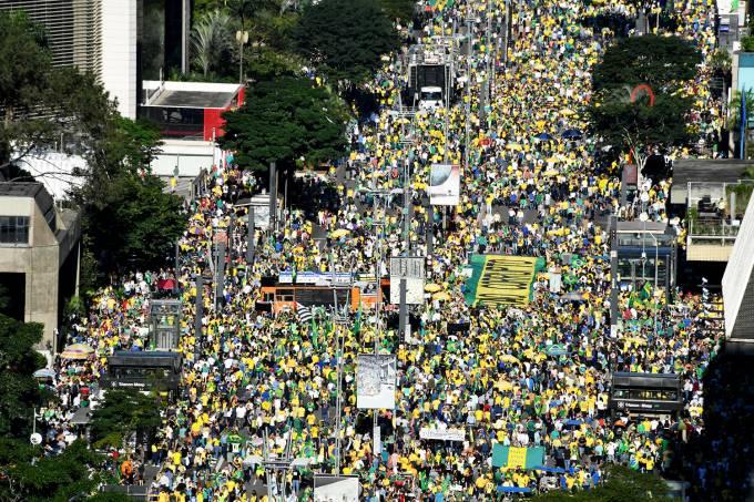 Protestos em apoio ao governo Bolsonaro – São Paulo