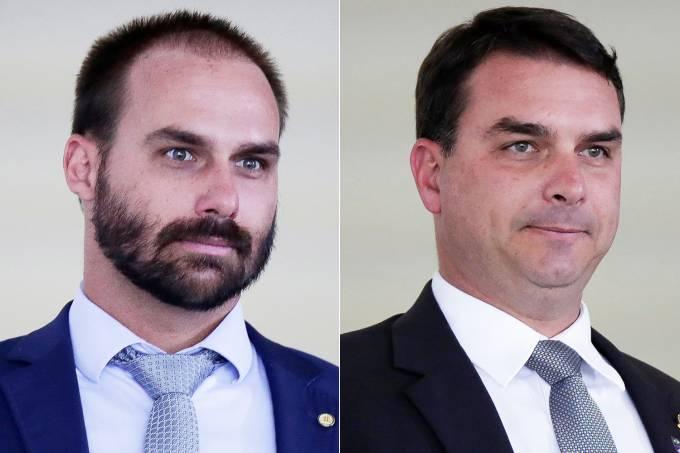 Eduardo Bolsonaro e Flávio Bolsonaro
