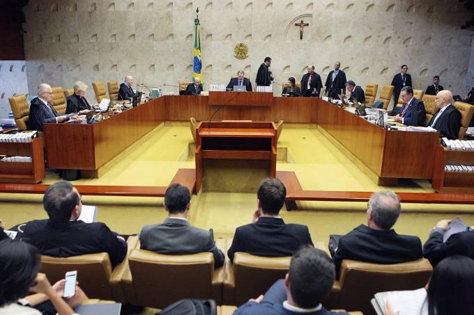 Sessão plenária do Supremo Tribunal Federal