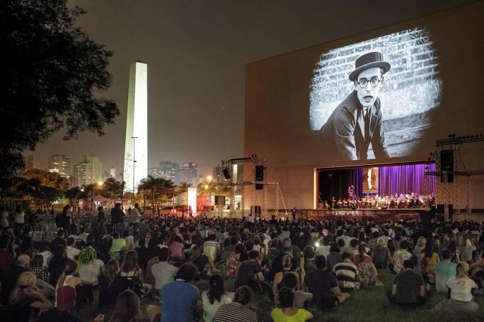 Filme é exibido no Parque do Ibirapuera durante a Mostra Internacional de Cinema em São Paulo de 2017