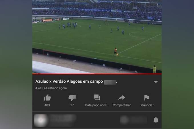 Transmissão pirata de CSA X Palmeiras