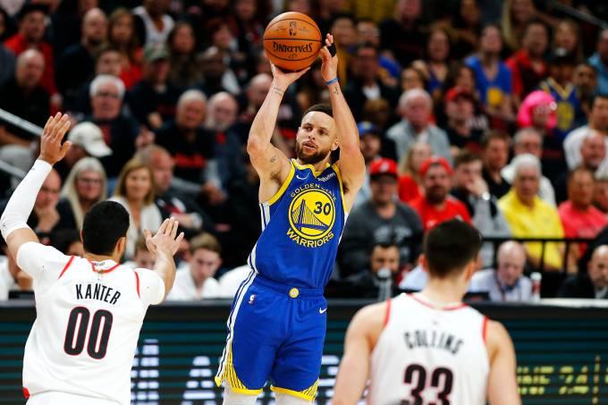 NBA – Golden State Warriors x Portland Blazers – Stephen Curry