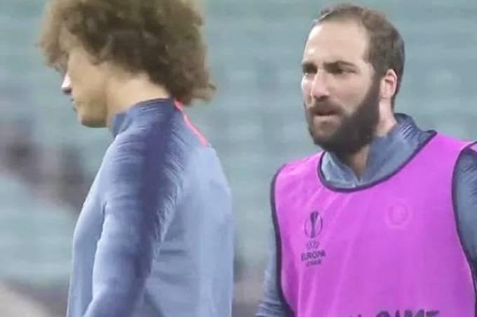 David Luiz e Gonzalo Higuaín