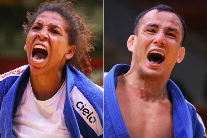 Rafaela Silva e Felipe Kitadai