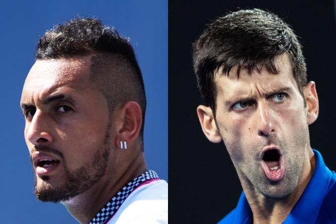 Novak Djokovic e Nick Kyrgios