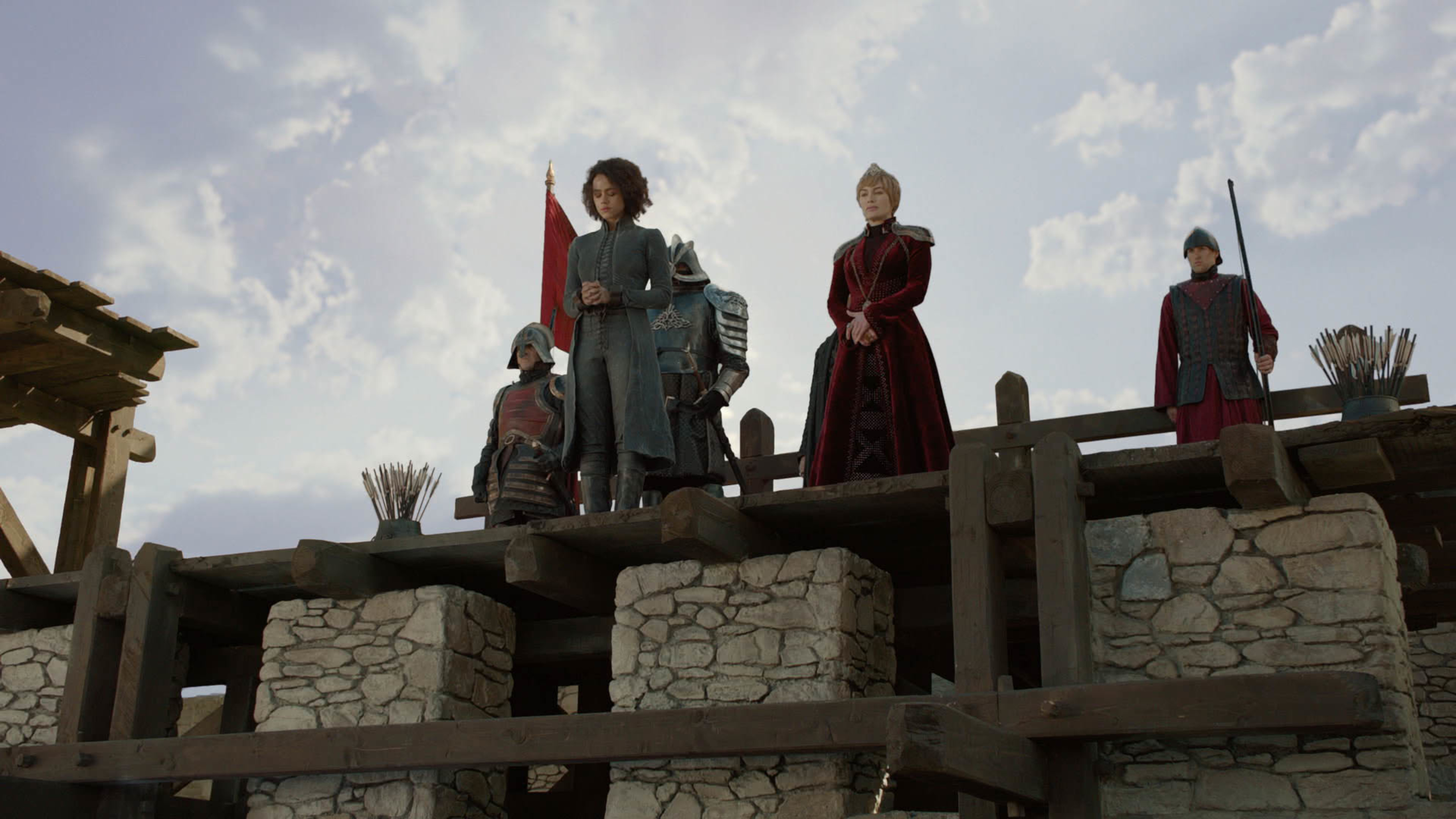 Missandei (Nathalie Emmanuel) é capturada por Cersei (Lena Headey) no quarto capítulo da oitava temporada de 'Game of Thrones'