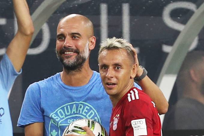 Pep Guardiola e Rafinha