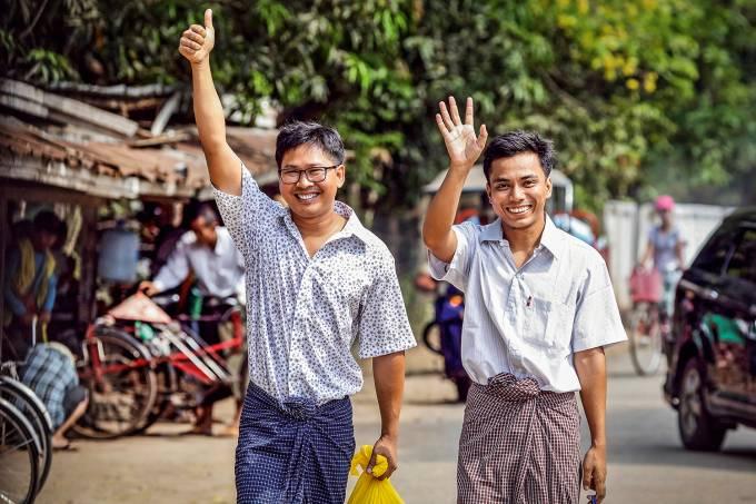 Jornalistas da Reuters libertados em Mianmar