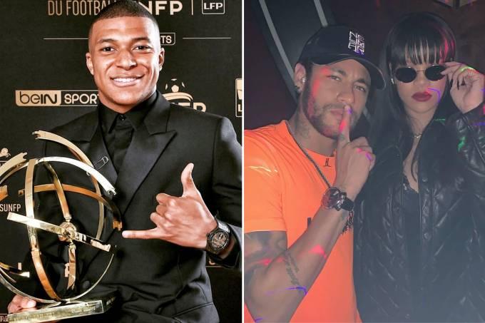 Mbappé, Neymar e Rihanna